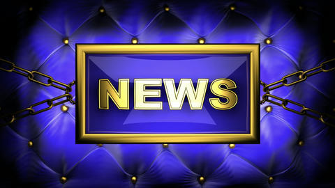 blinking monitor news Stock Video Footage