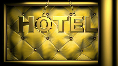 hotel yellow Stock Video Footage