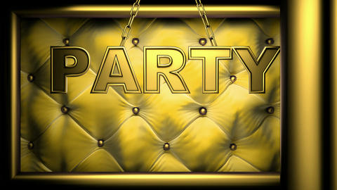party yellow Stock Video Footage