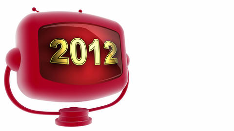 tv 2012 red Stock Video Footage