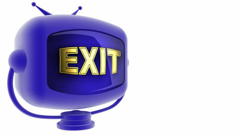 tv exit blue Stock Video Footage