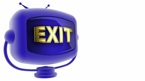 tv exit blue Animation