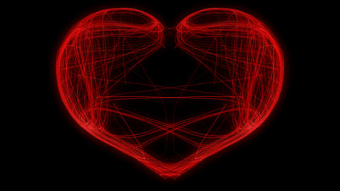 St. Valentine's Day weaving heart. Alpha channel is included Stock Video Footage