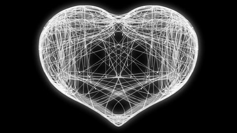 St. Valentine's Day weaving heart. Alpha channel is included Animation
