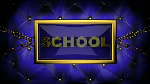 blinking monitor school Stock Video Footage
