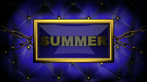 blinking monitor summer Stock Video Footage