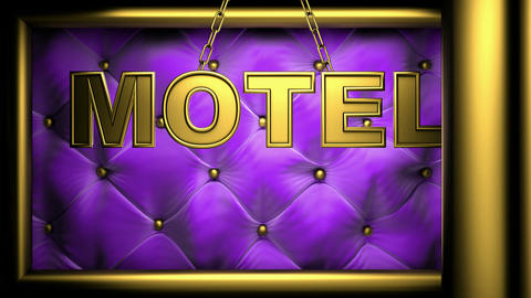 motel violet Stock Video Footage