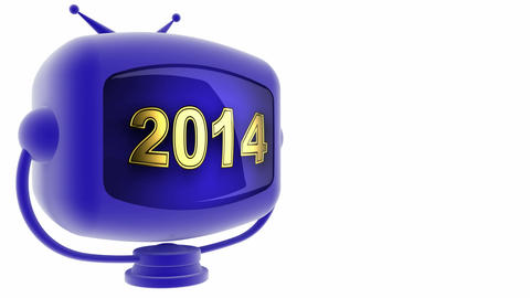 tv 2014 blue Stock Video Footage