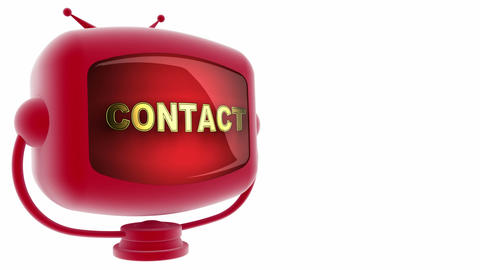 tv contact red Stock Video Footage