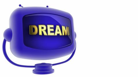 tv dream blue Stock Video Footage