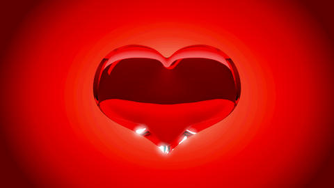 Loopable Heart explosion over red. Slow motion Stock Video Footage