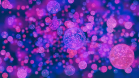 Mix of colored bubbles and lights. Useful as motion... Stock Video Footage