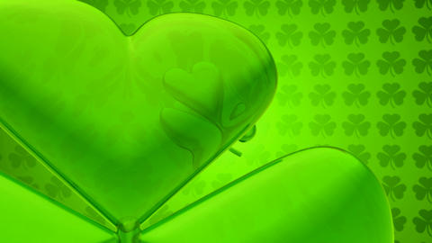 Loopable St. Patrick's Day clover - Motion Background Animation