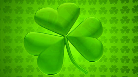 Loopable St. Patrick's Day clover - Motion Background Stock Video Footage