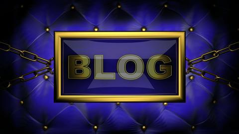 blinking monitor blog Stock Video Footage