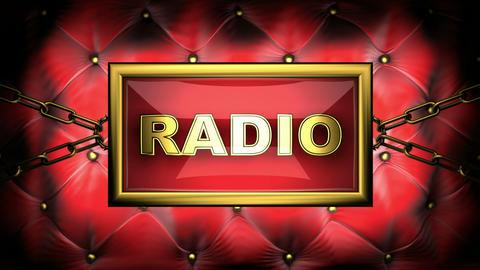 blinking monitor radio Stock Video Footage