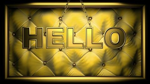 hello yellow Stock Video Footage