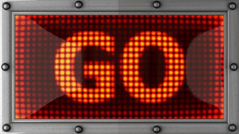 blinking lights(go) Stock Video Footage