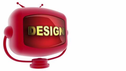 tv design red Animation