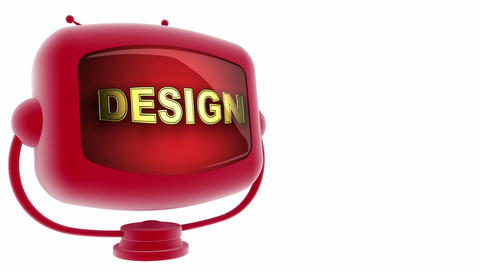 tv design red Stock Video Footage
