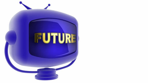 tv future blue Stock Video Footage