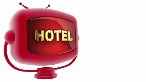 tv hotel red Animation