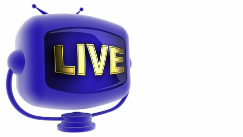 tv live blue Animation
