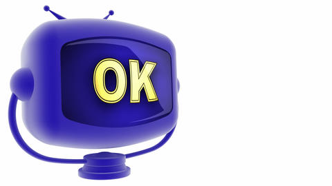 tv ok blue Animation