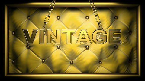 vintage yellow Stock Video Footage