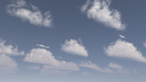 clouds in poles animation Stock Video Footage