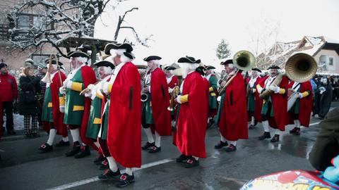 Trumpet choir dressed in eighteenth century costum Live Action