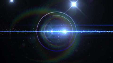 Opening intro Flash light flare B 3 blue 4k Animation