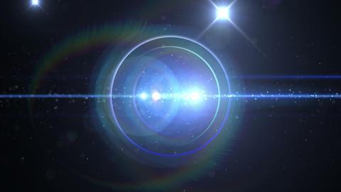 Opening intro Flash light flare B 4 blue 4k Animation
