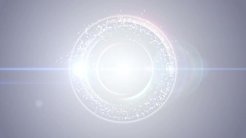 Opening intro Flash light flare W 3 blue S 4k Animation