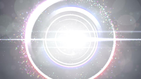 Opening intro Flash light flare W 4 white 4k Animation