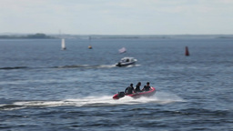 Rigid Inflatable Boat slow motion Footage