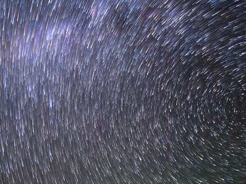 Star Tracks. Time Lapse. 640x480 stock footage