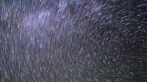 Star Tracks. Time Lapse. 4K stock footage