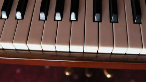 Black and white piano keys Footage