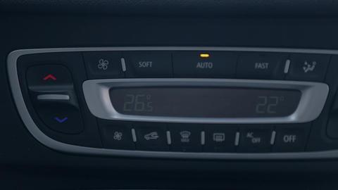 Man changing radio channel on the car radio Footage
