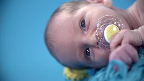 Baby's head shot sideways Footage