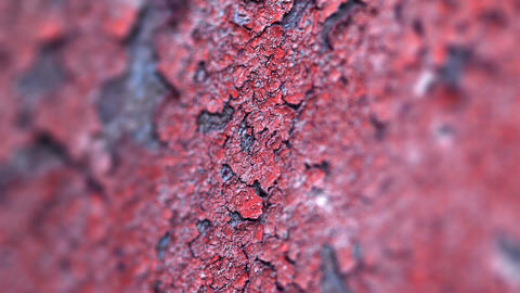 Peeling Paint On An Old Concrete Wall Of The Destr stock footage