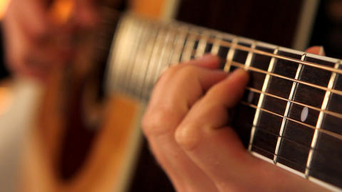 man playing guitar close up 3 Footage