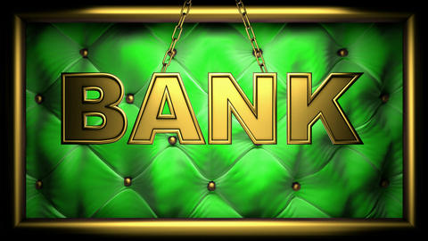 bank green Stock Video Footage