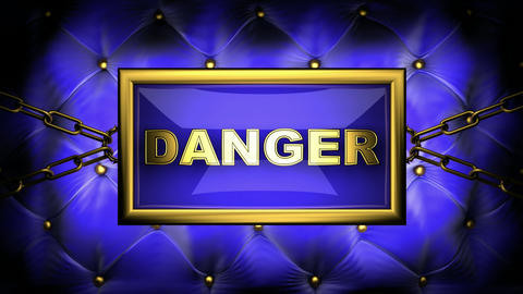 blinking monitor danger Stock Video Footage