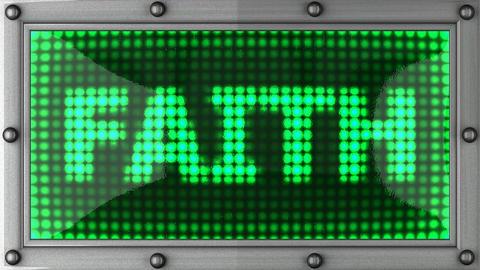 blinking lights(faith) Stock Video Footage