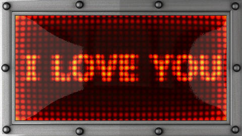 blinking lights(i love you) Stock Video Footage