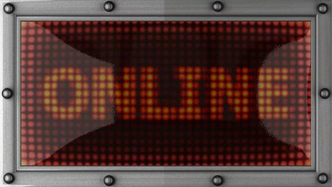 blinking lights(online) Stock Video Footage