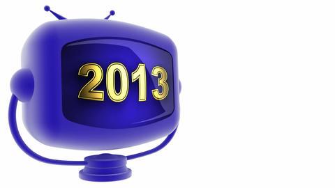 tv 2013 blue Stock Video Footage