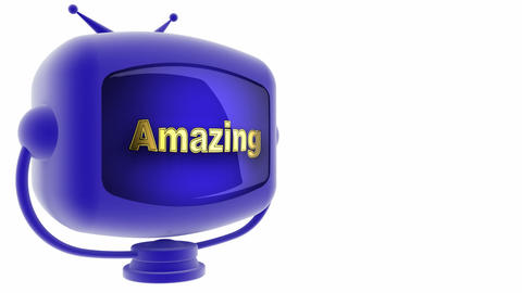 tv amazing blue Stock Video Footage